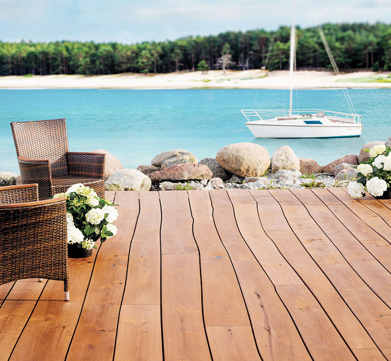 cleaning outdoor wooden floors