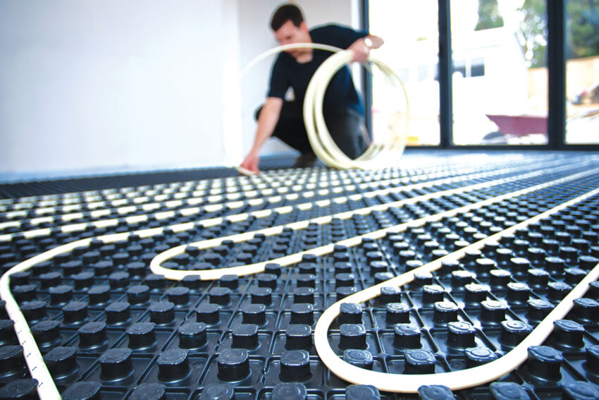 radiant underfloor heating