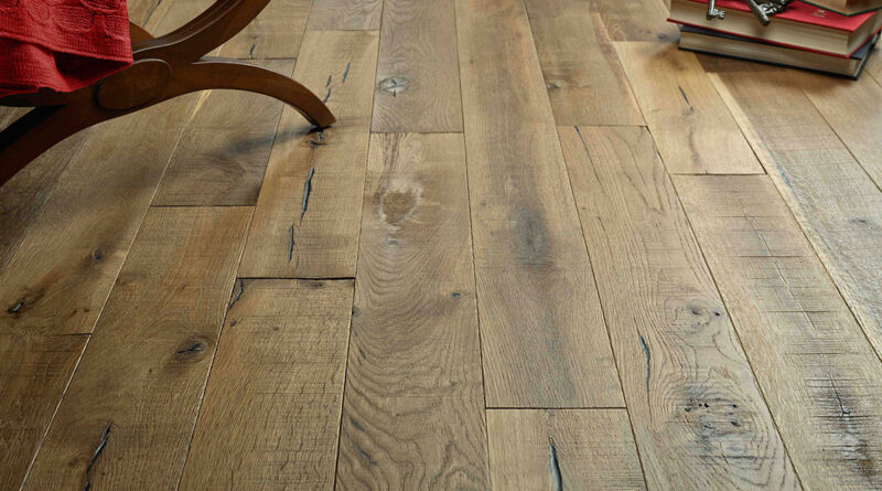 Rustic wooden flooring