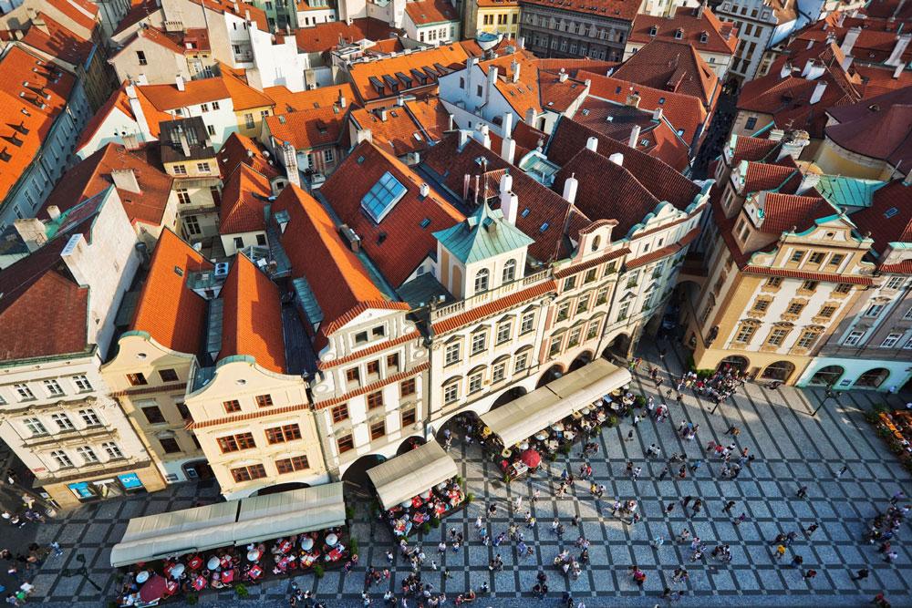 Centar Starog grada je kod zamka Prag