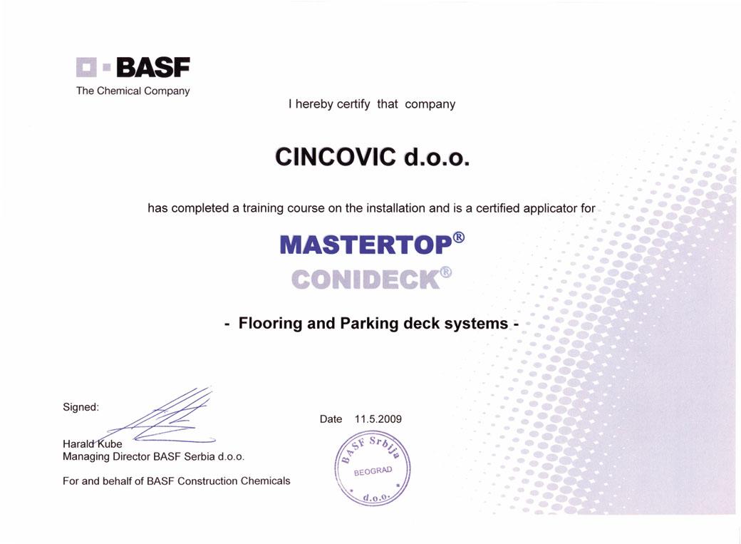 Mastertop sertifikat