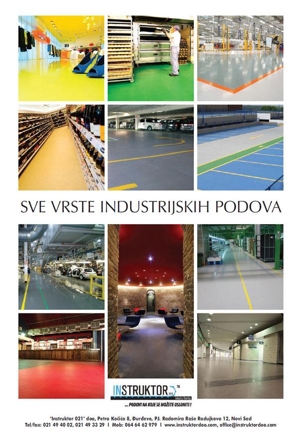 Sve vrste industrijskih podova