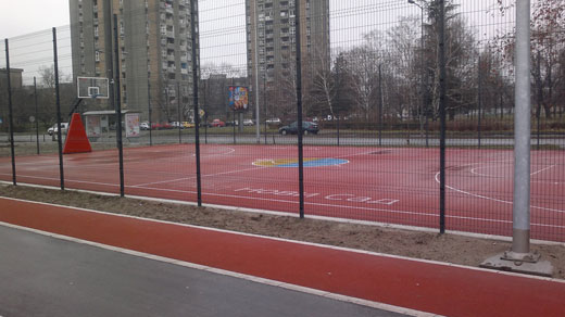 Sportski teren - beogradski kej, Novi Sad