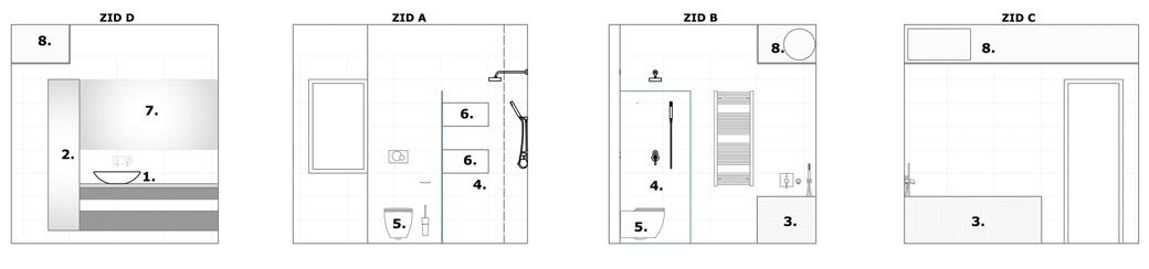 Predlog za kupatilo i toalet