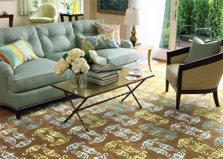 Tepih u dnevnoj sobi