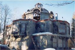 Podmoskovlje: objekat sa kupolom iznad sale u sredini, kompletno izliven u Simprolit monolitu