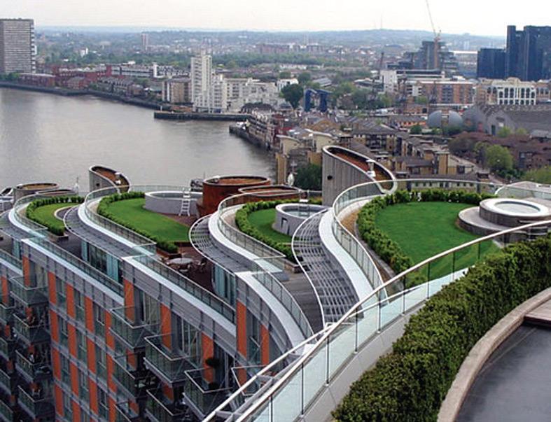 odovdnjavanje sa zelenih krovova