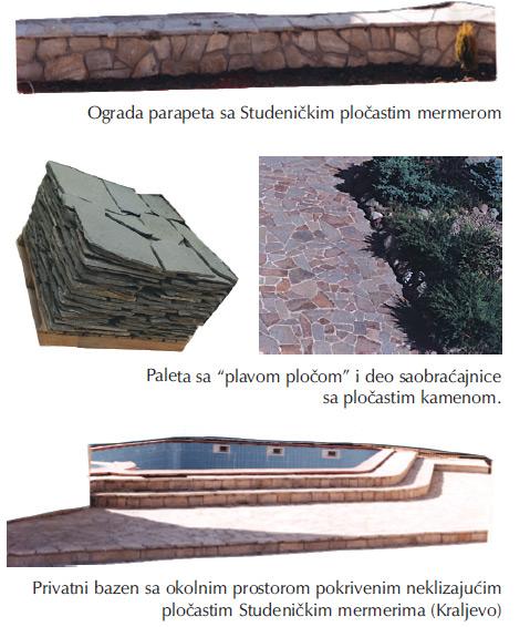 Rustično pločasti mermeri Studenice