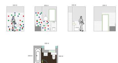 Predlog za raspored u dečijem kupatilu