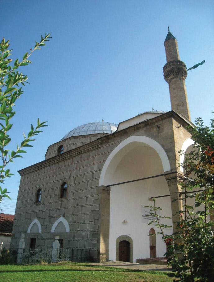 "Altun-Alem džamija, XVI vek, čiji vitki minaret je napravljen isključivo od bloketa ""trahita"""