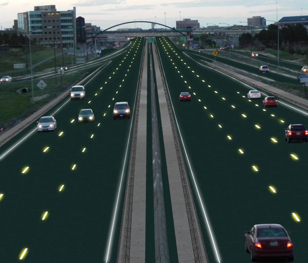 Render izgleda autoputa sa panelima - grafički dizajn: Sam Cornett