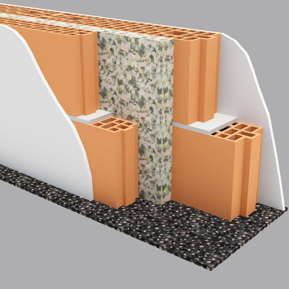 Stvaranjem vazdušnih džepova između dva sloja pregrade, zvuk se manje prenosi i postiže se bolja zvučna izolacija