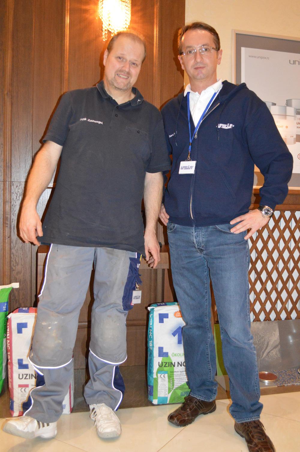 UZIN proizvode je prezentovao Frank Zaumsegel iz Nemačke i Sava Jojić iz beogradskog predstavništva