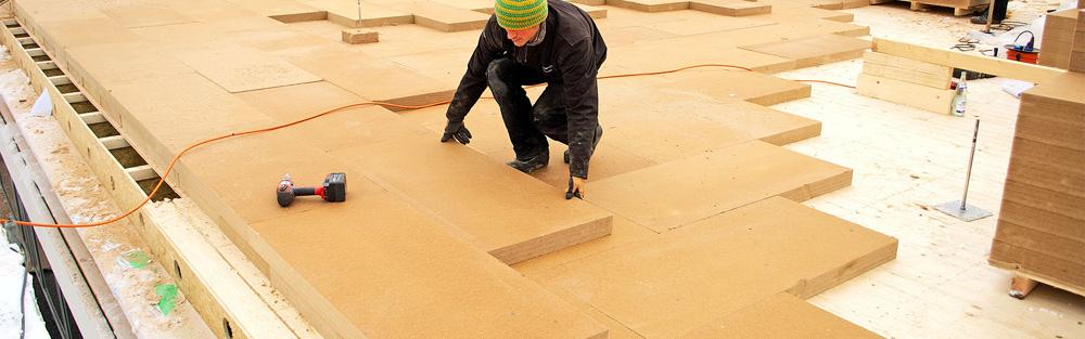 Materijali na bazi drvenih vlakana ili drvene vune se proizvode od sekundarnog drvenog materijala