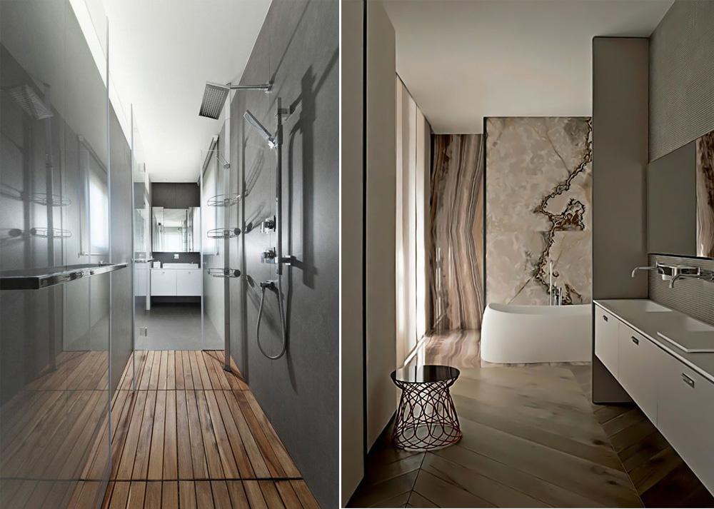 Drvo u kupatilu daje posebnu prefinjenost celom prostoru