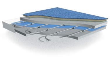 3D izgled sistema toplovodnog podnog grejanja