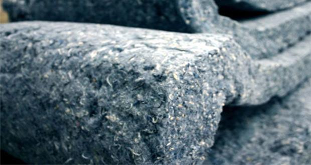 Detalj pamučne utratouch izolacije