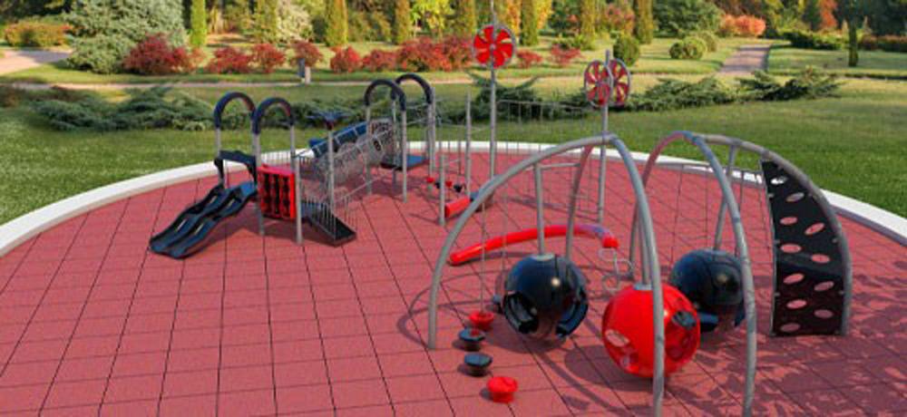 Izgled igrališta sa površinom od reciklirane gume
