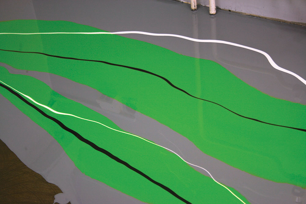Jedinstveni izgled poda može uključiti elemente korporativnog identiteta i umetničkog dizajna