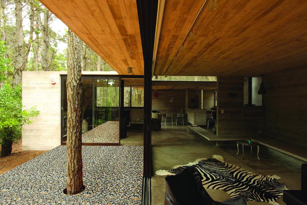Pločice sa dizajnom i teksturama prirodnih i građevinskih materijala