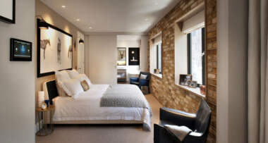 Dekorativni zidovi od opeke u spavaćoj sobi