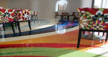 Interesantni dizajn akustičnih linoleum podova