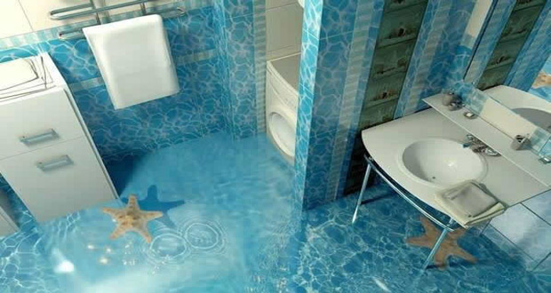Izgled 3D poda u kupatilu