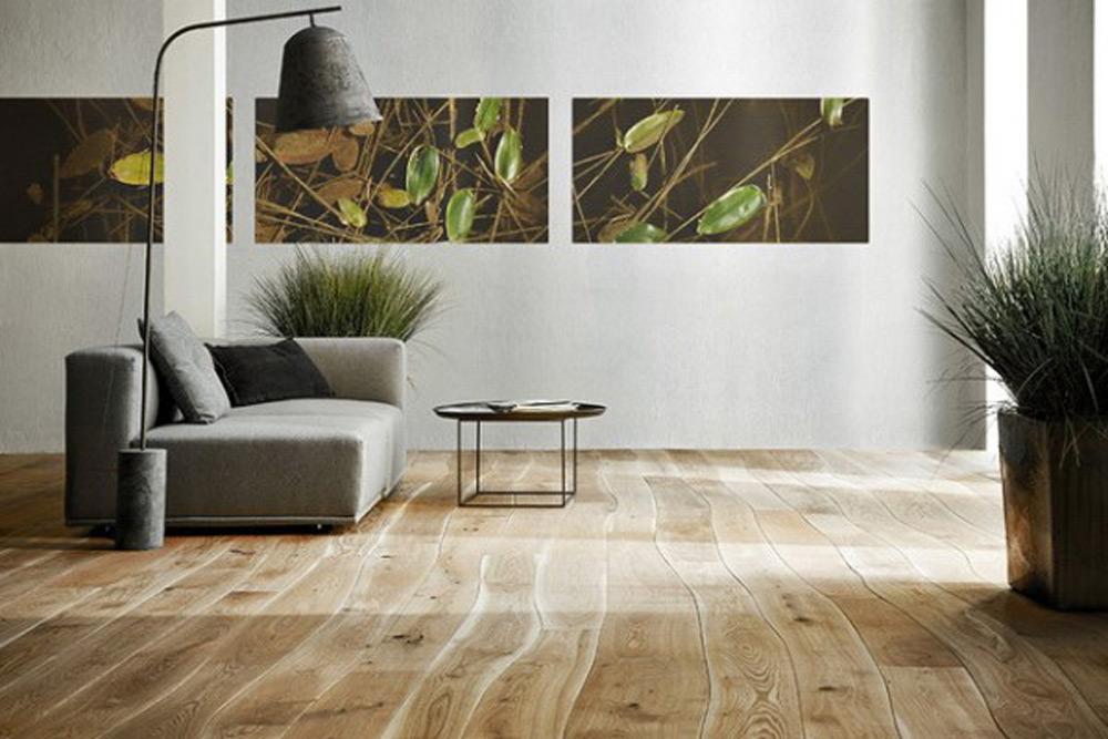Zakrivljeni drveni pod
