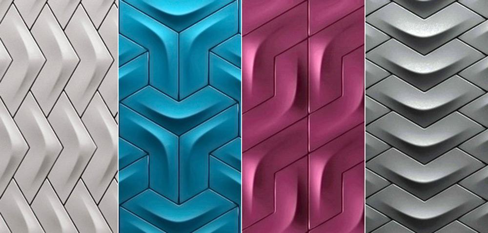 Različiti spektar pločica sa 3D-efektom