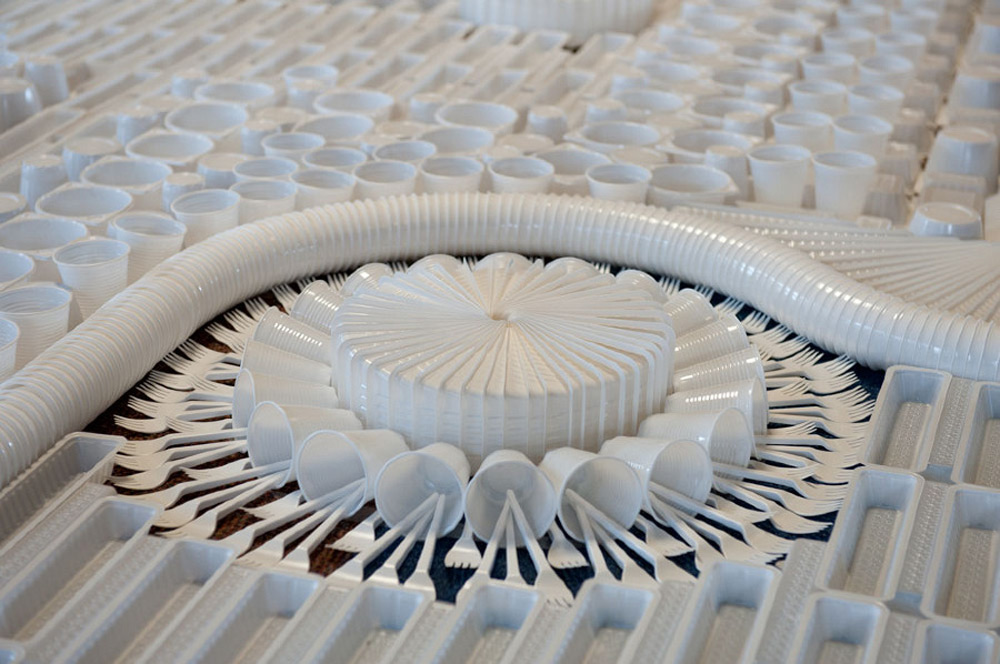 Detalj čipkastog tepiha