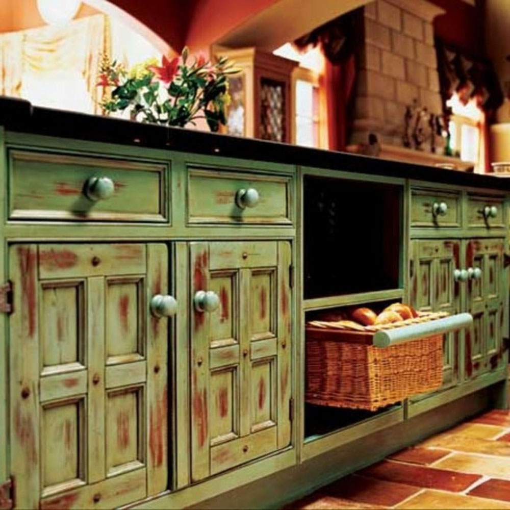 Toplota rusti nog ure enja asopis podovi for Antique painting kitchen cabinets ideas