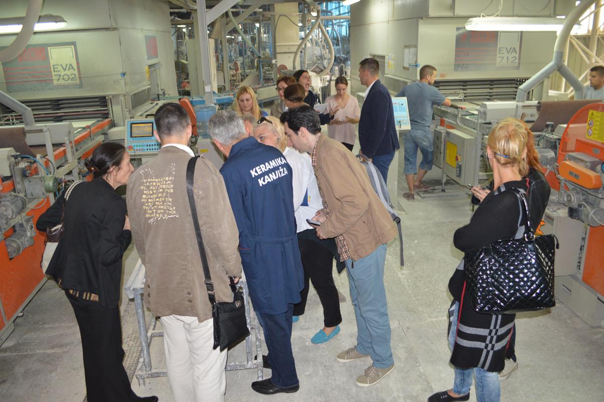 U poseti fabrici Keramika Kanjiža