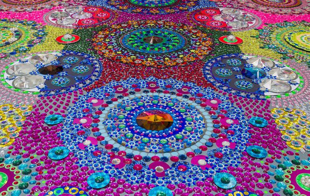 Podni mozaik posmatran odozgo