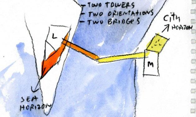 Most je na visini od 65 metara što i dalje dozvoljava prolaz brodova u luku