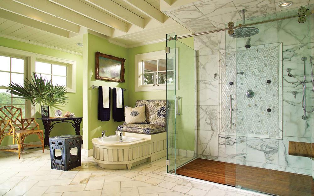 Luksuzno zeleno kupatilo