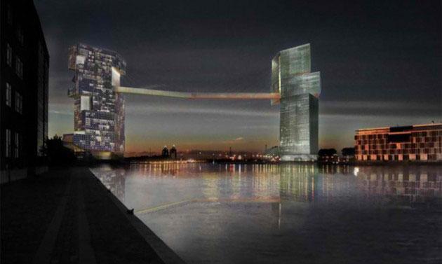 Pasarelu će činiti viseća mostovska konstrukcija između dve kule