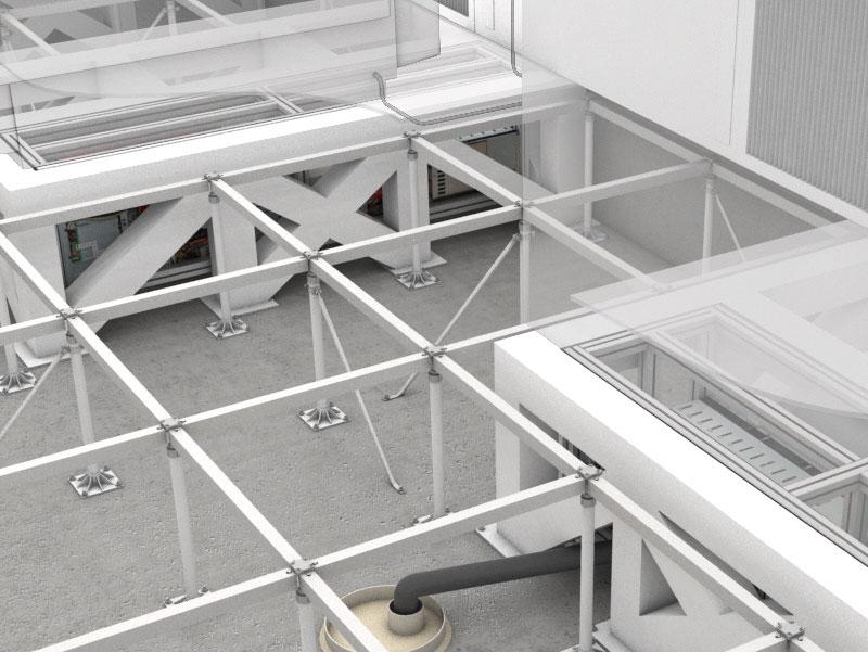 Izdignuti podovi zapravo predstavljaju podni sistem koji čini konstrukcija od aluminijuma ili galvanizovanog čelika