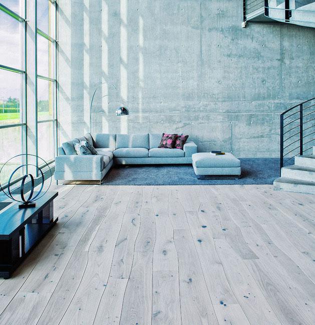 Dužina drveta koja je korišćena za izradu ovog poda, prati liniju njegovog rasta i razvoja