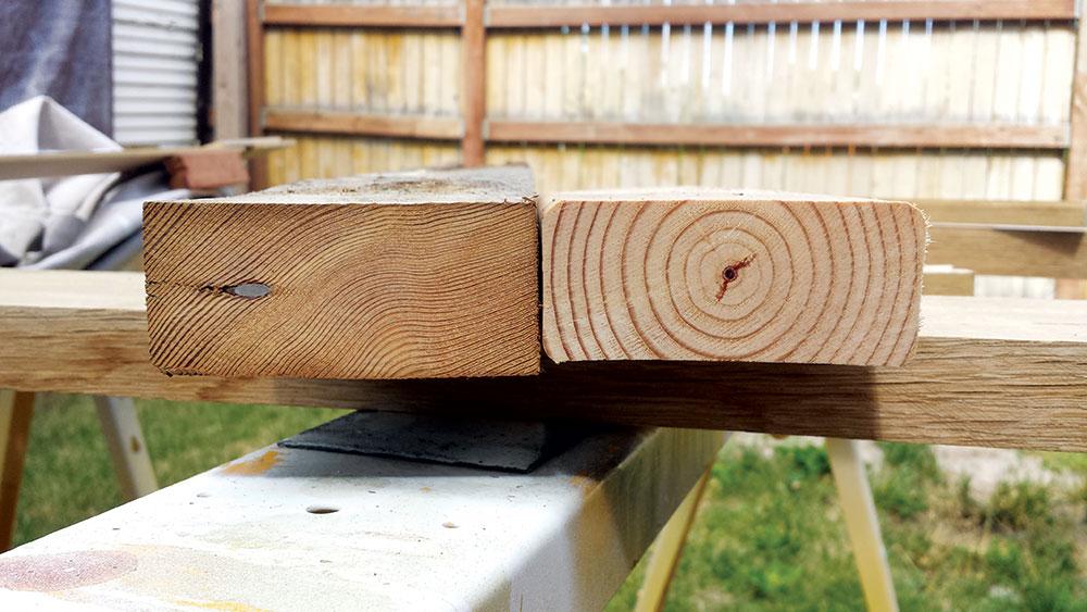 Drvo je znatno otpornije na pritisak na čeonom preseku nego na bočnom