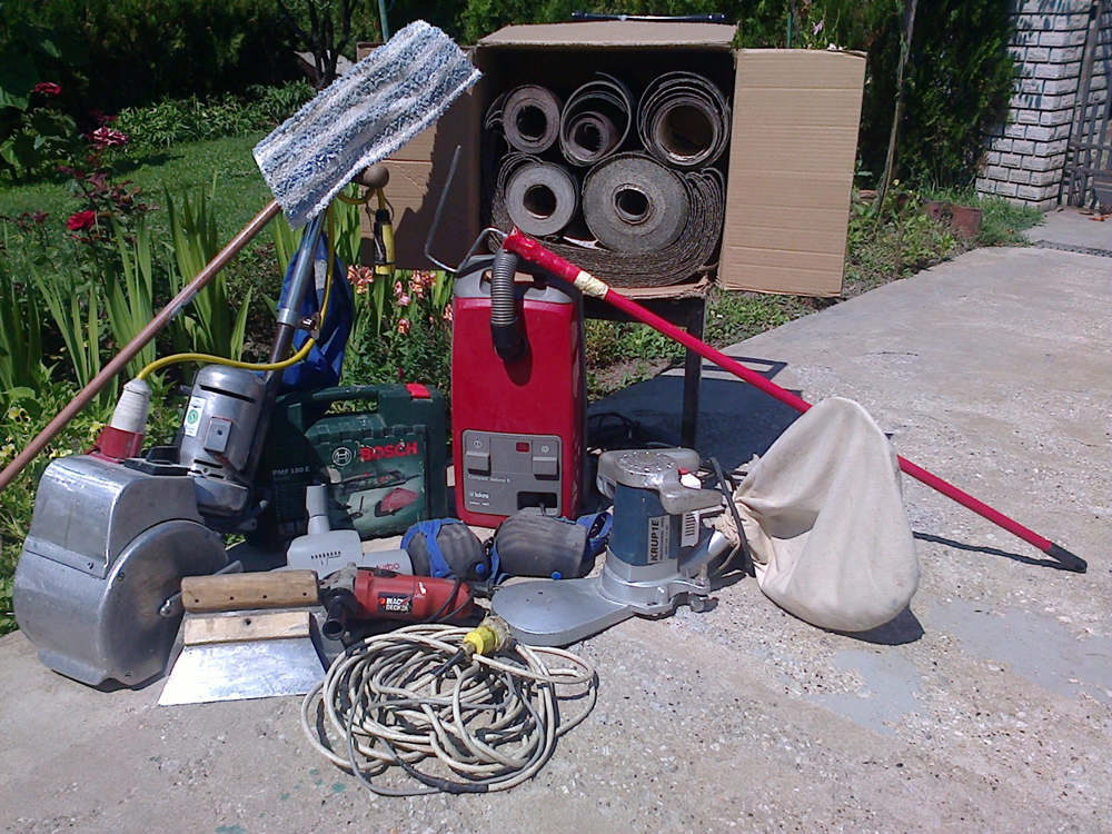 Mašine za hoblovanje i lakiranje parketa