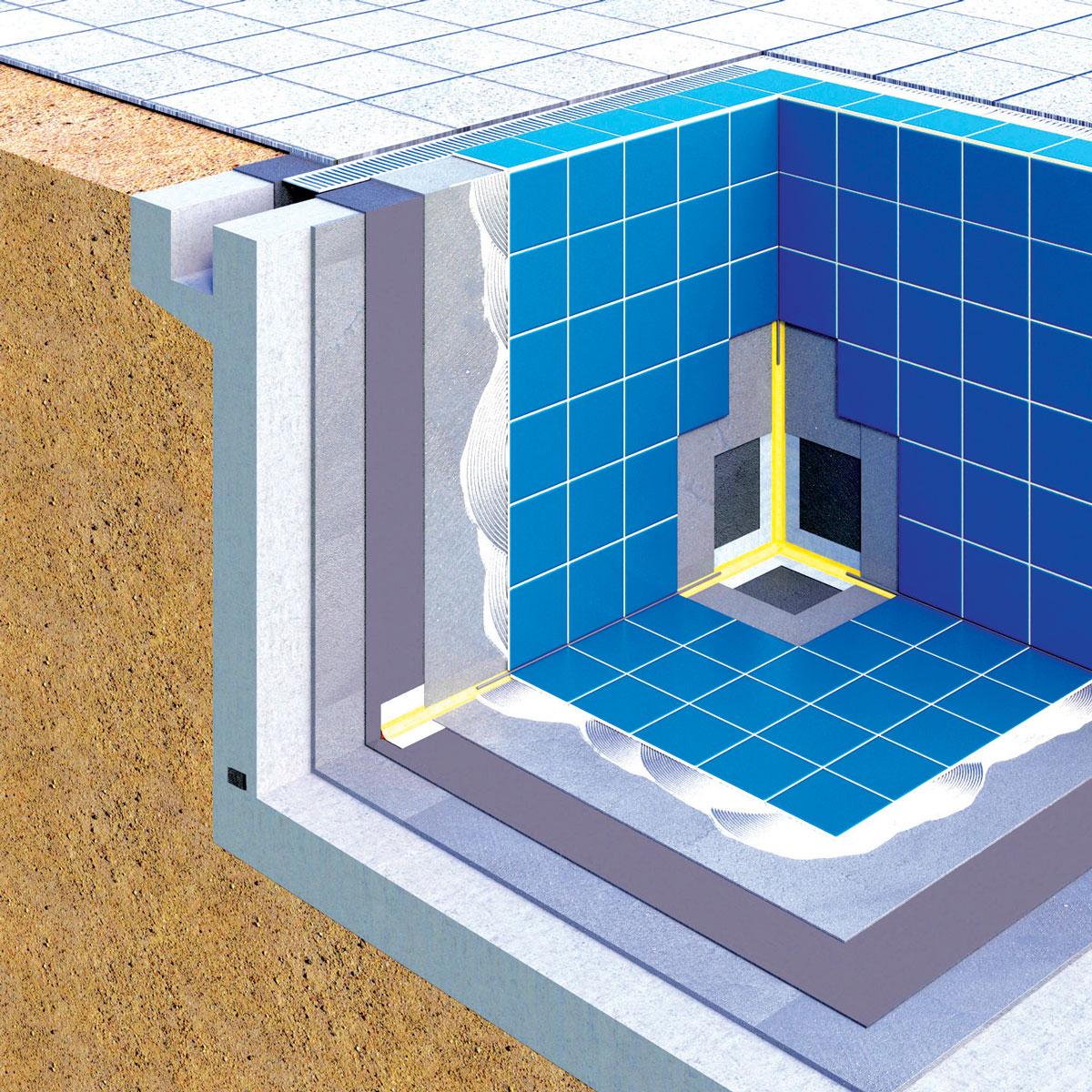 Bazenske konstrukcije su obično napravljene od vodonepropusnog betona