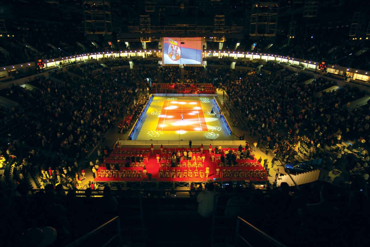 Podovi u sportskim dvoranama - Foto: www.kombankarena.rs