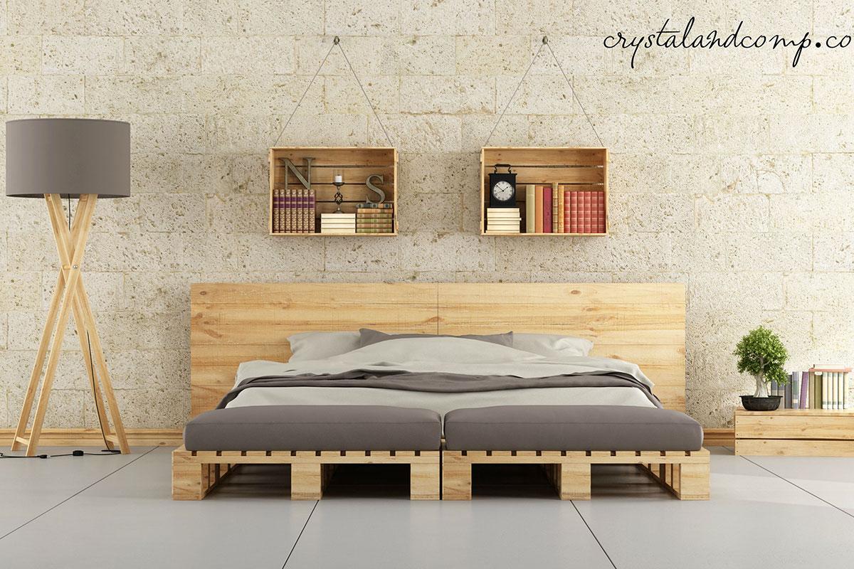 Spavaća soba - upotreba drvenih paleta u enterijeru