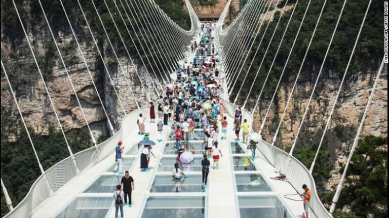 Zatvoren stakleni most u kini