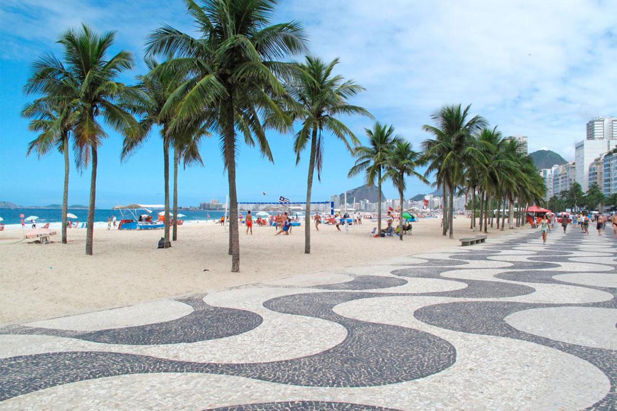 Copacabana plaža, RIo De Žaneiro