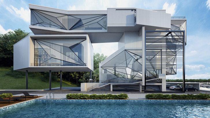 Kuća sagrađena od delova aviona