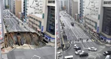 Foto: Tanjug rupa u Japanu sanirana za dva dana