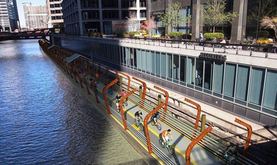 Biciklistička staza sa solarnim panelima