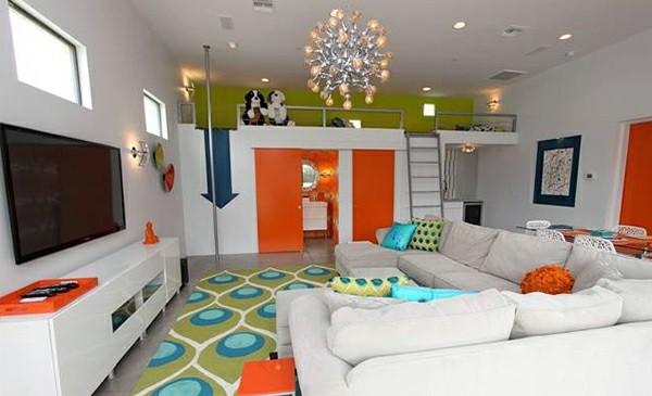 Tepih u dečijoj sobi je ujedno i prostor za igru