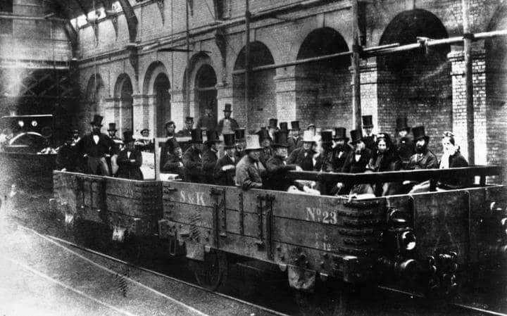 Foto: Londonski metro, godina 1862.